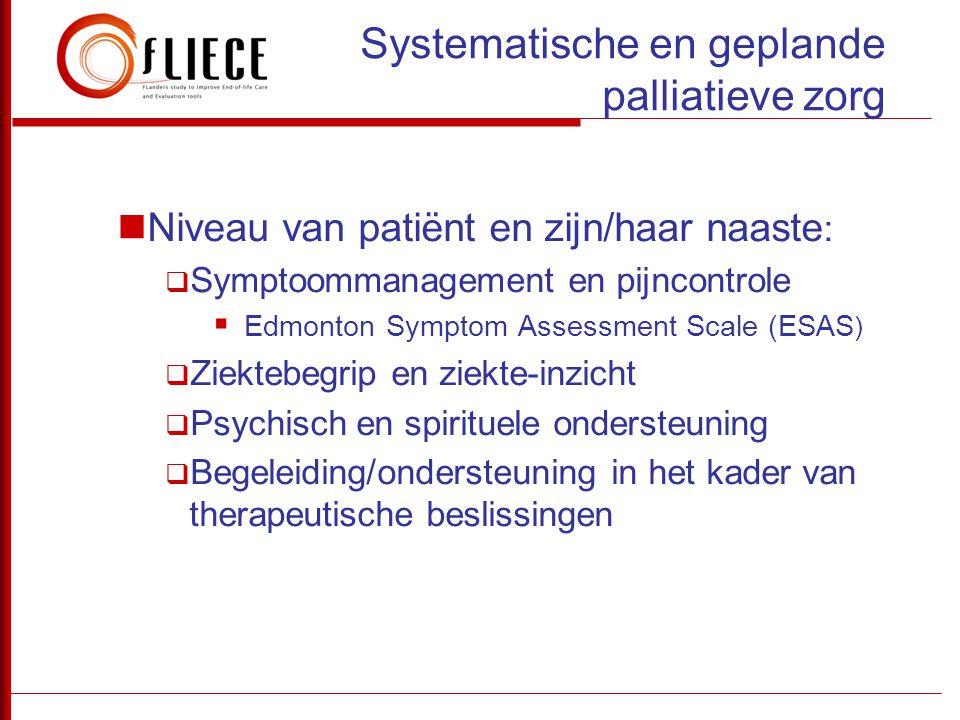 Systematische en geplande palliatieve zorg