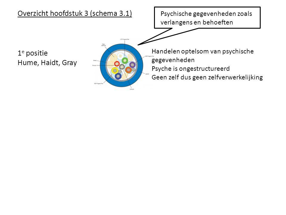 Overzicht hoofdstuk 3 (schema 3. 1). Psychische gegevenheden zoals
