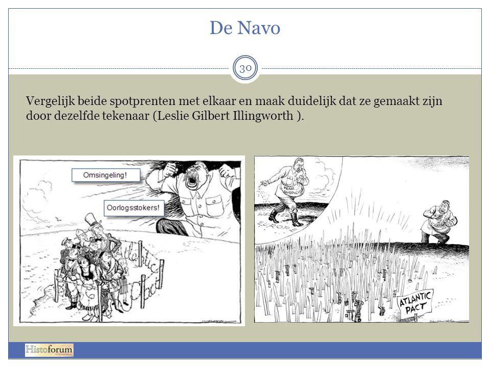 De Navo Vergelijk beide spotprenten met elkaar en maak duidelijk dat ze gemaakt zijn door dezelfde tekenaar (Leslie Gilbert Illingworth ).