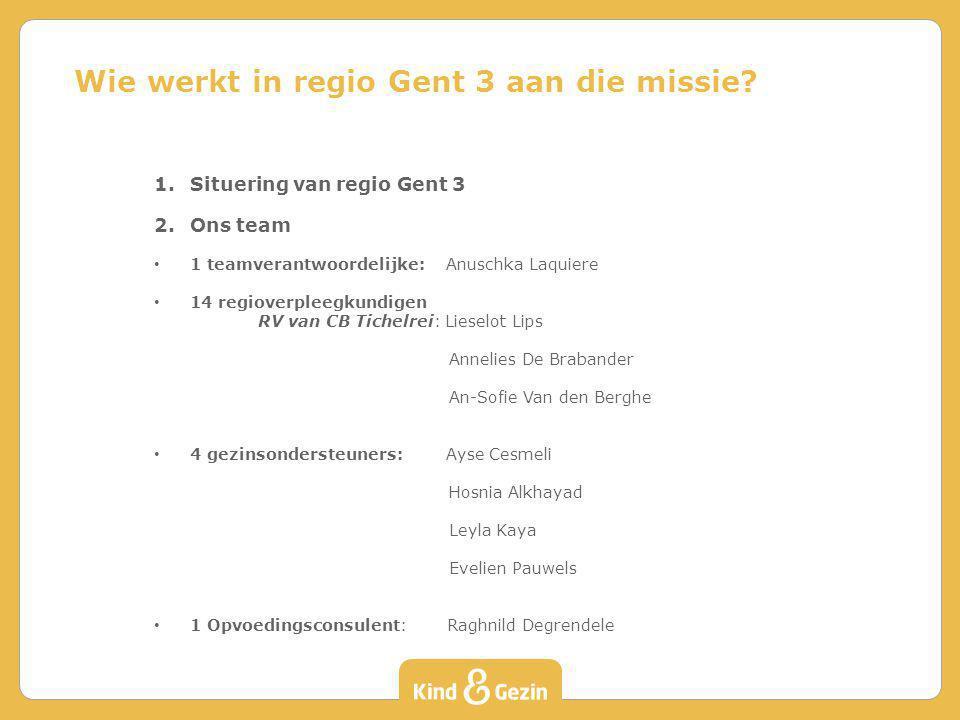 Wie werkt in regio Gent 3 aan die missie
