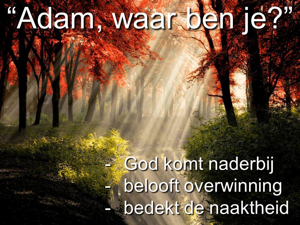 Adam, waar ben je God komt naderbij belooft overwinning