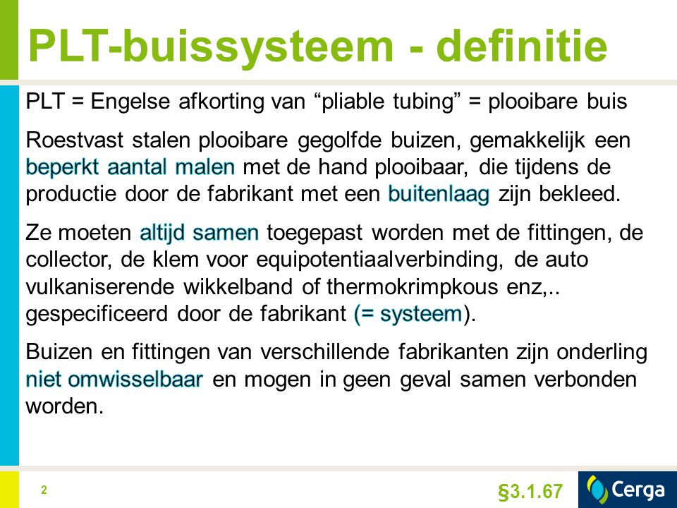 PLT-buissysteem - definitie