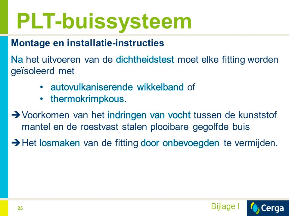PLT-buissysteem Montage en installatie-instructies