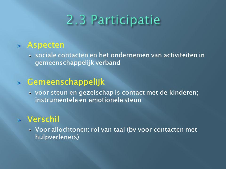 2.3 Participatie Aspecten Gemeenschappelijk Verschil