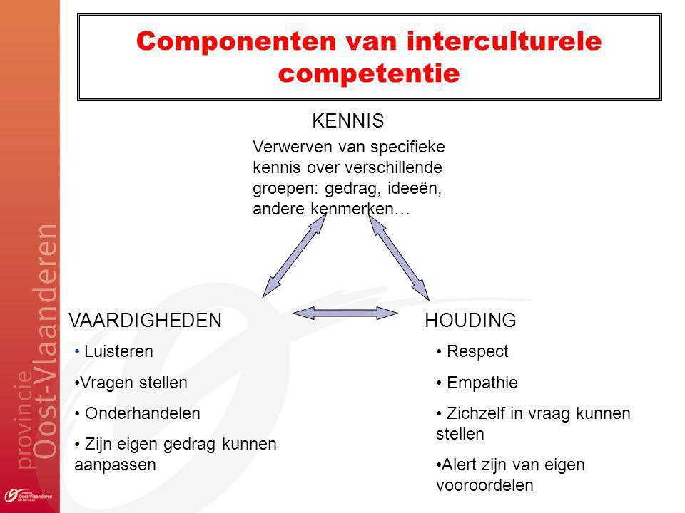 Componenten van interculturele competentie