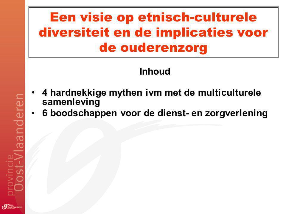 Een visie op etnisch-culturele diversiteit en de implicaties voor de ouderenzorg