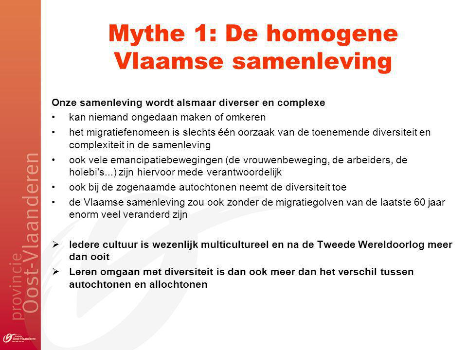 Mythe 1: De homogene Vlaamse samenleving
