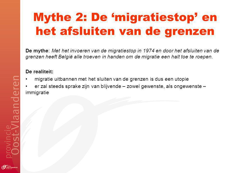 Mythe 2: De 'migratiestop' en het afsluiten van de grenzen