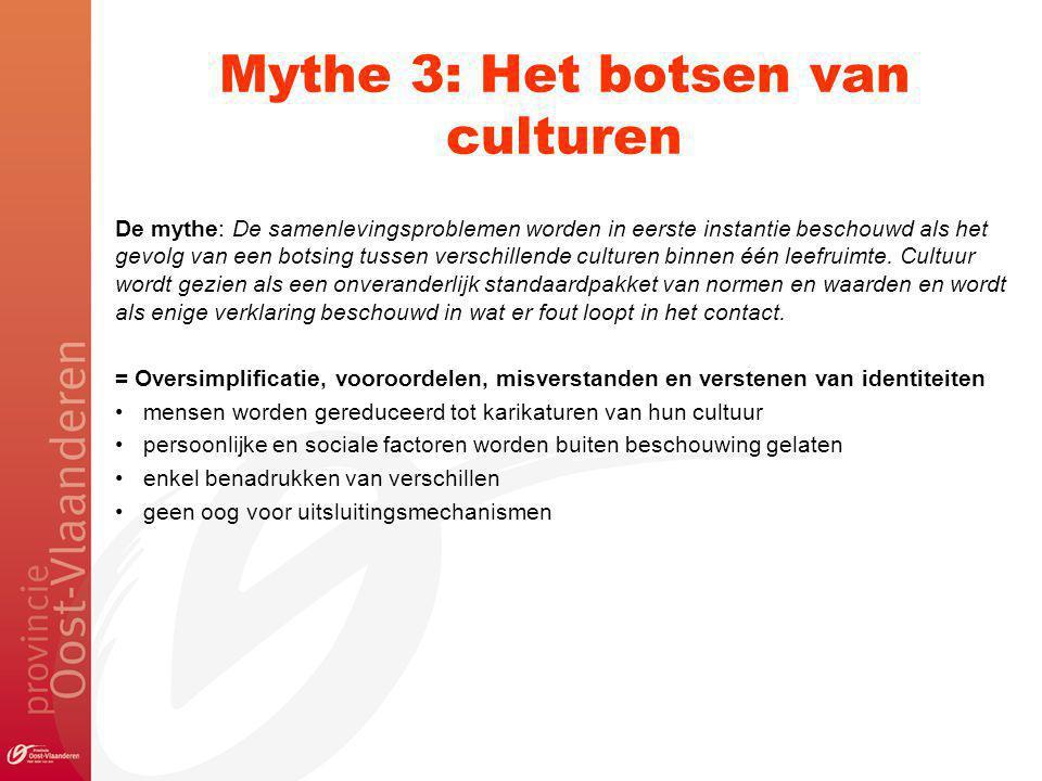 Mythe 3: Het botsen van culturen