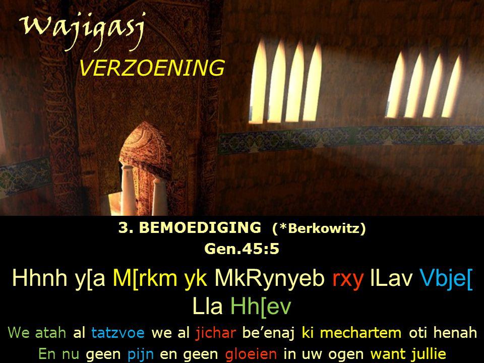 3. BEMOEDIGING (*Berkowitz)
