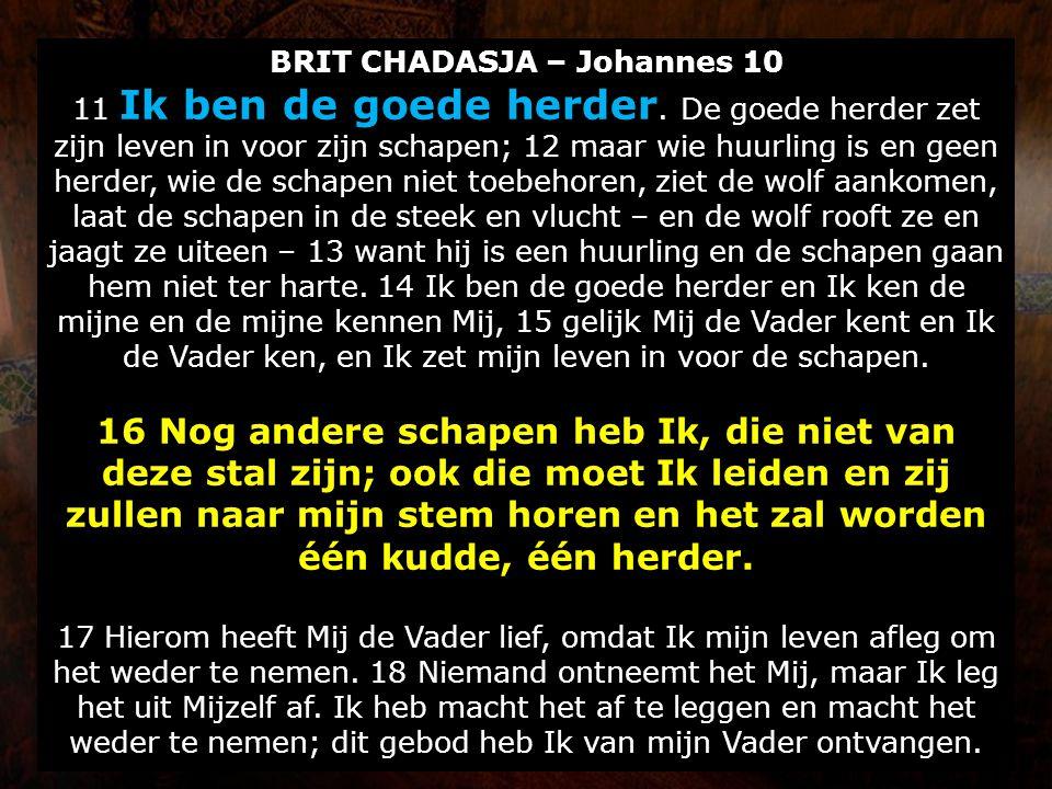 BRIT CHADASJA – Johannes 10