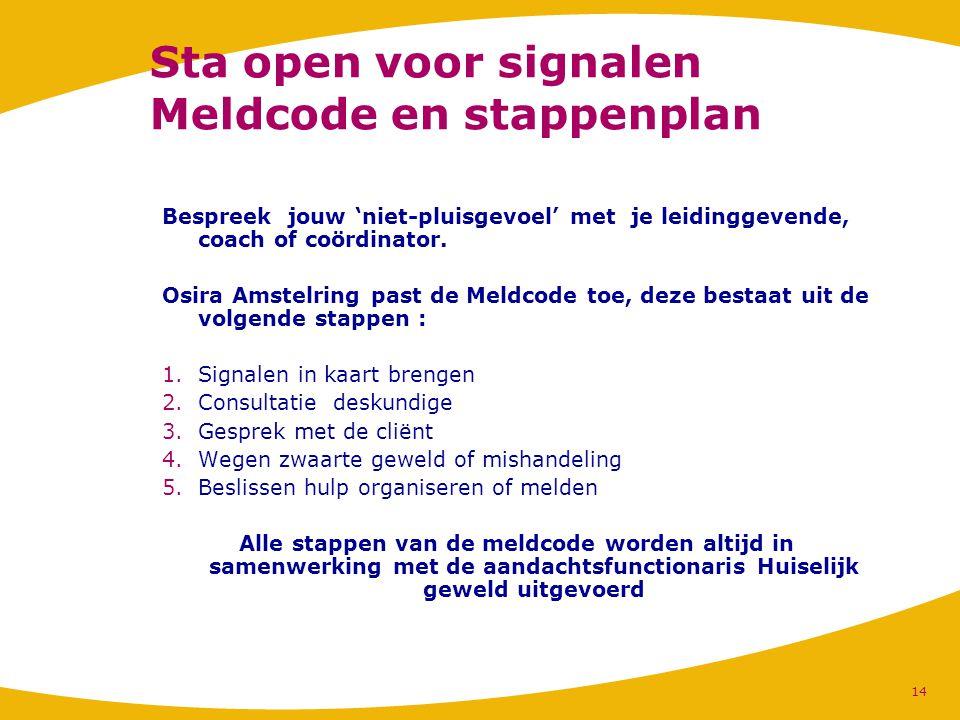 Sta open voor signalen Meldcode en stappenplan