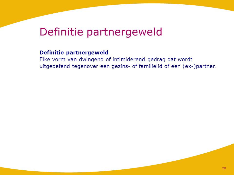 Definitie partnergeweld