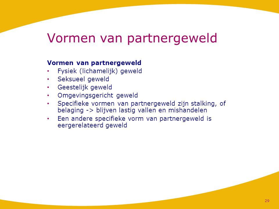 Vormen van partnergeweld