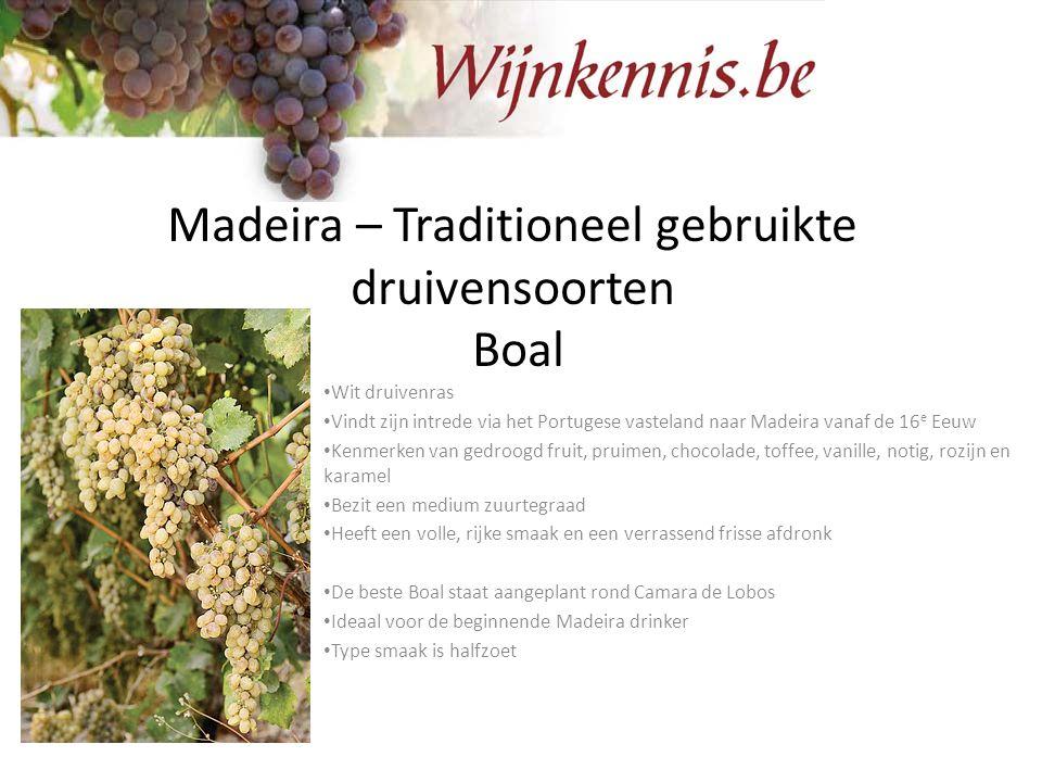 Madeira – Traditioneel gebruikte druivensoorten Boal