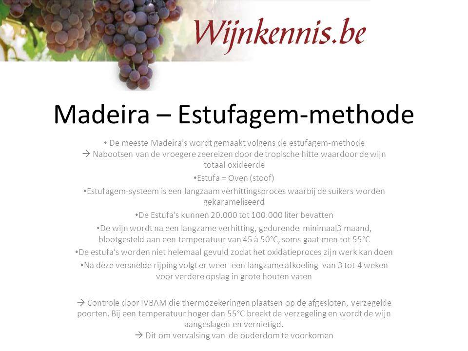 Madeira – Estufagem-methode