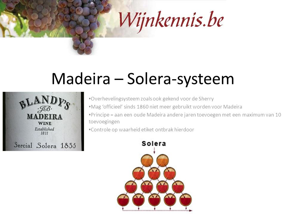 Madeira – Solera-systeem