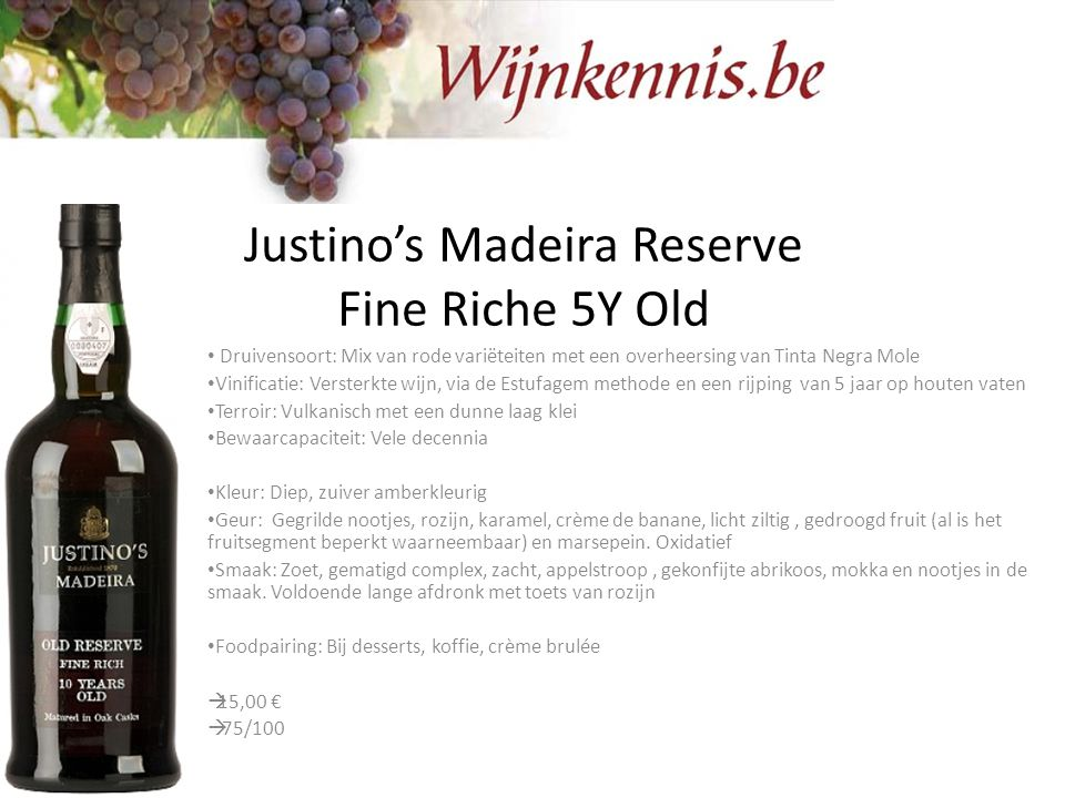 Justino's Madeira Reserve Fine Riche 5Y Old