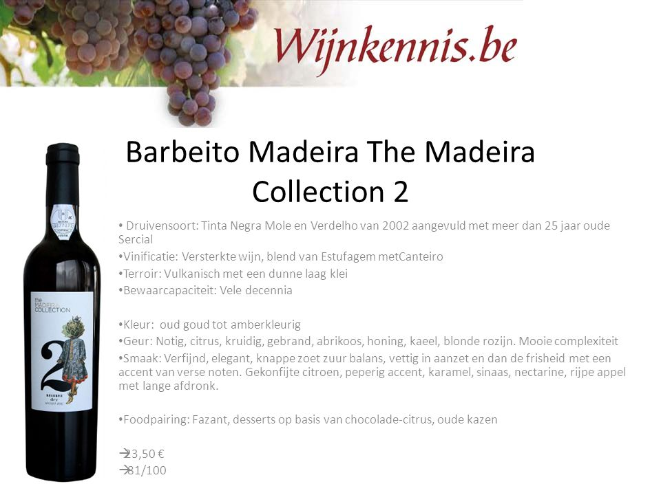 Barbeito Madeira The Madeira Collection 2