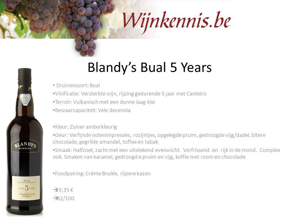 Blandy's Bual 5 Years Druivensoort: Bual