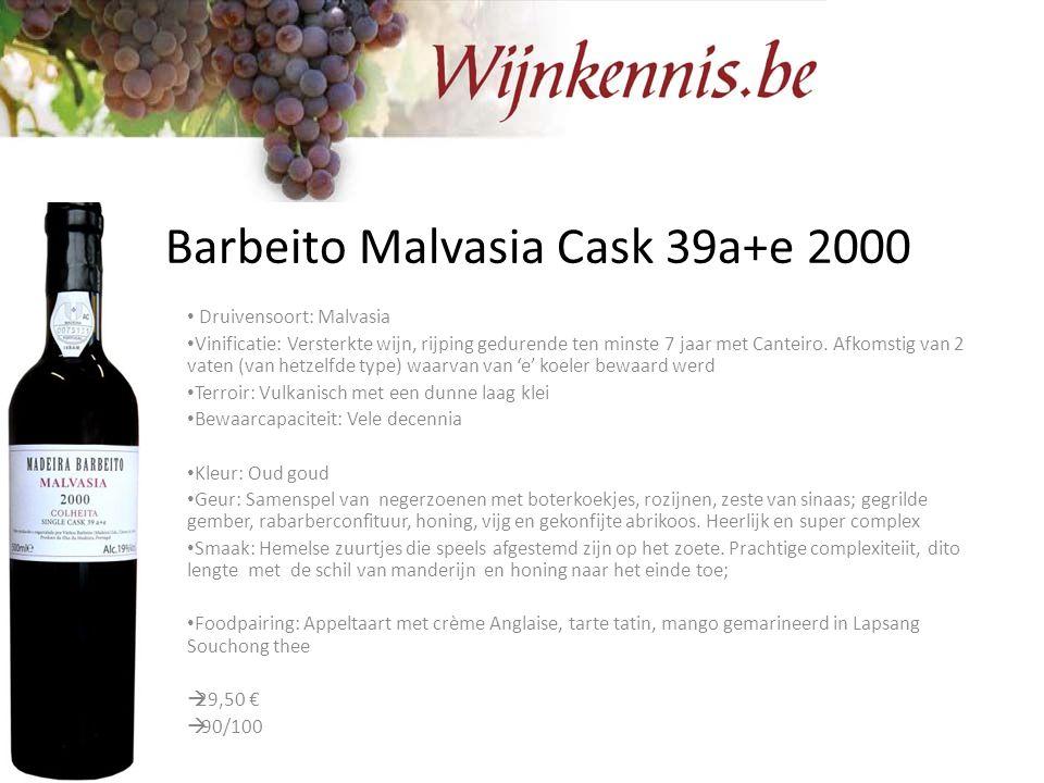 Barbeito Malvasia Cask 39a+e 2000