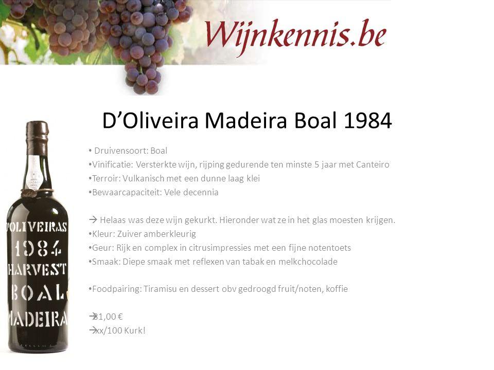 D'Oliveira Madeira Boal 1984