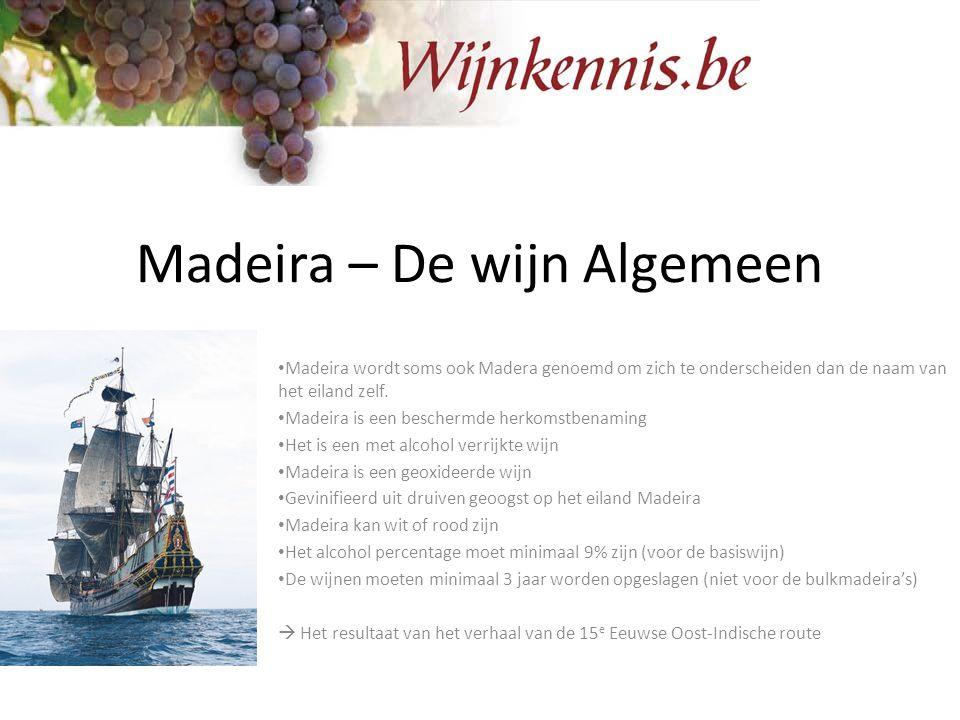 Madeira – De wijn Algemeen