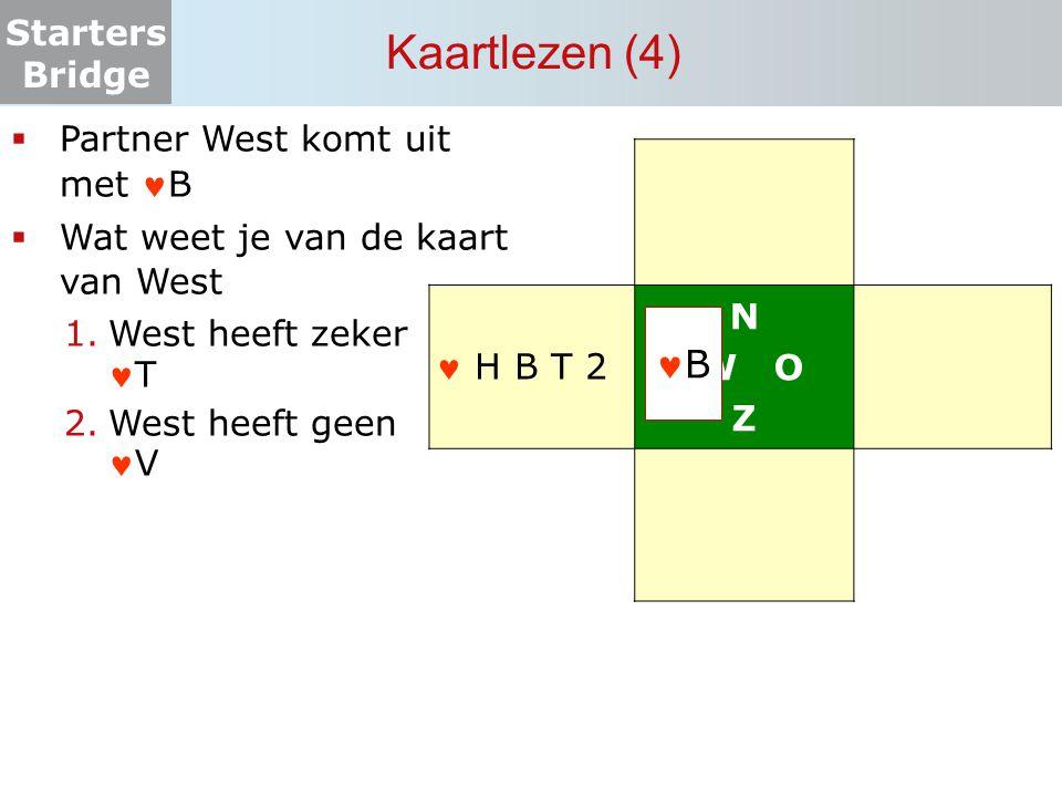 Kaartlezen (4) B Partner West komt uit met B N W O Z