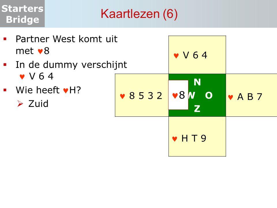 Kaartlezen (6) 8 Partner West komt uit met 8 N W O Z