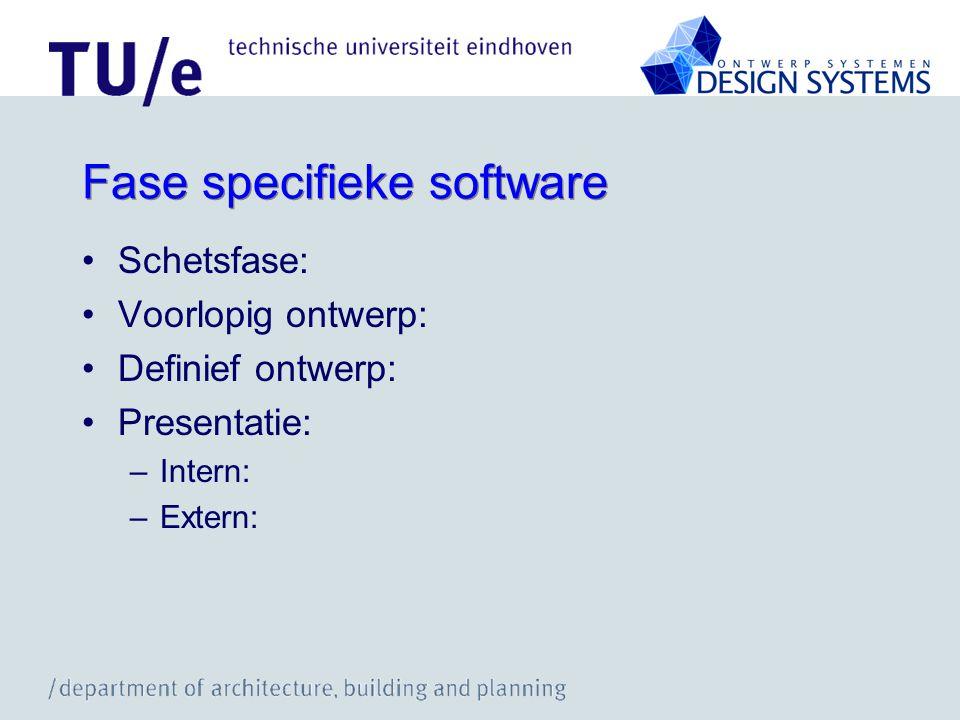 Fase specifieke software