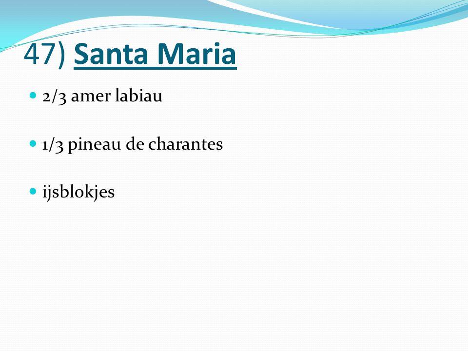 47) Santa Maria 2/3 amer labiau 1/3 pineau de charantes ijsblokjes