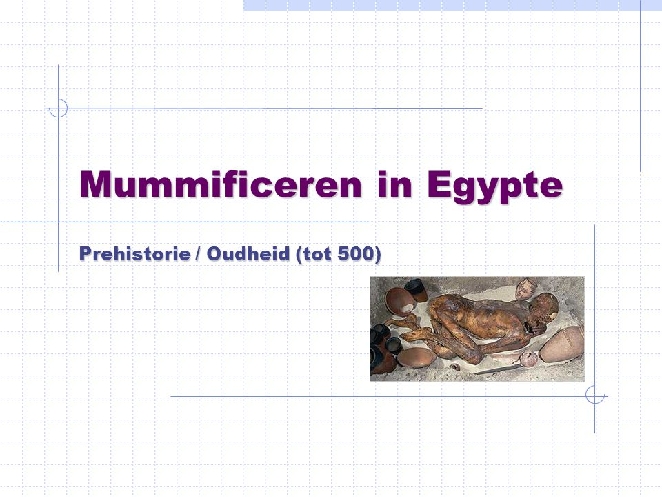 Mummificeren in Egypte
