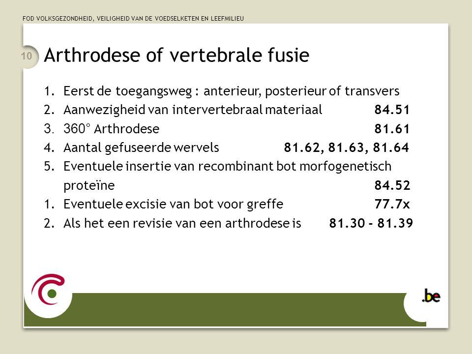 Arthrodese of vertebrale fusie