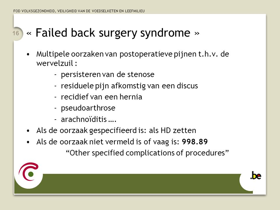 failed back surgery syndrom