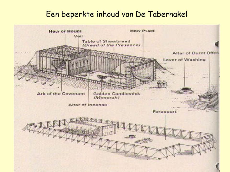 Een beperkte inhoud van De Tabernakel