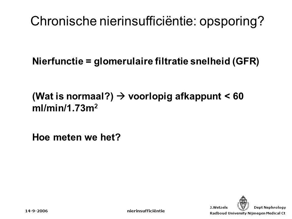 Chronische nierinsufficiëntie: opsporing