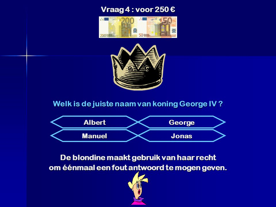 Welk is de juiste naam van koning George IV