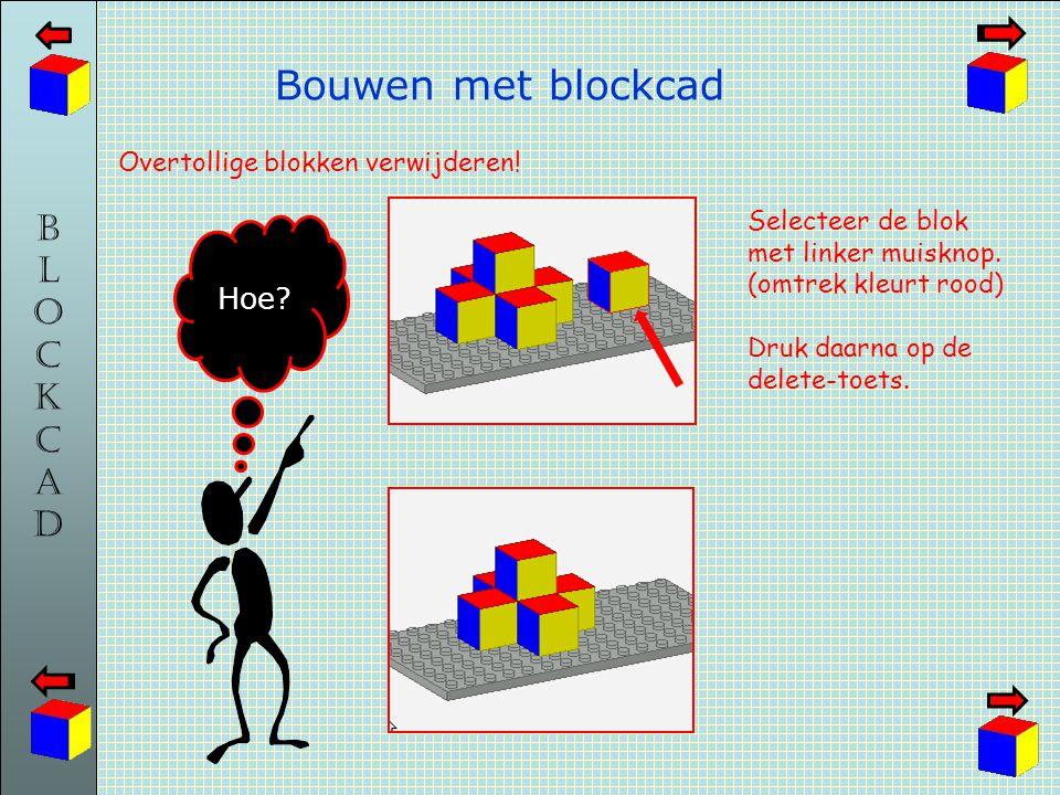 Bouwen met blockcad Hoe Overtollige blokken verwijderen!