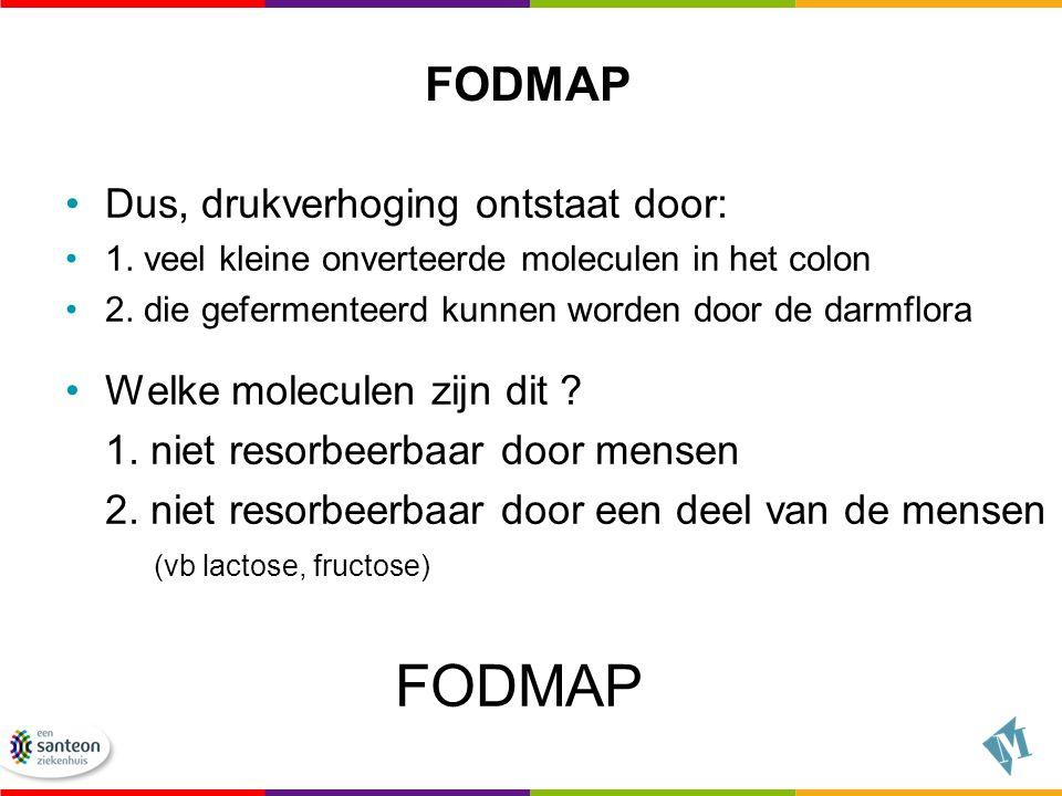 FODMAP FODMAP Dus, drukverhoging ontstaat door: