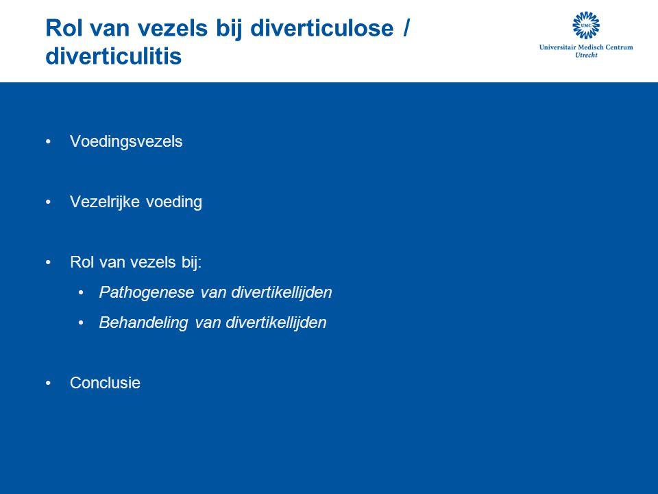 Rol van vezels bij diverticulose / diverticulitis