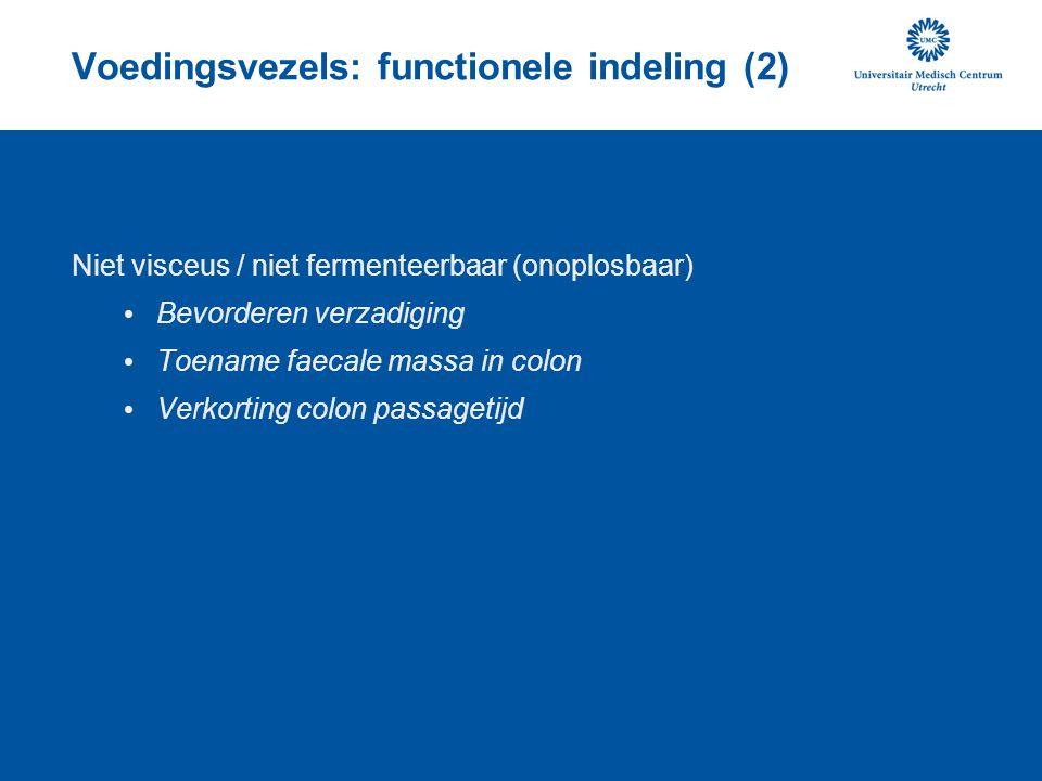 Voedingsvezels: functionele indeling (2)