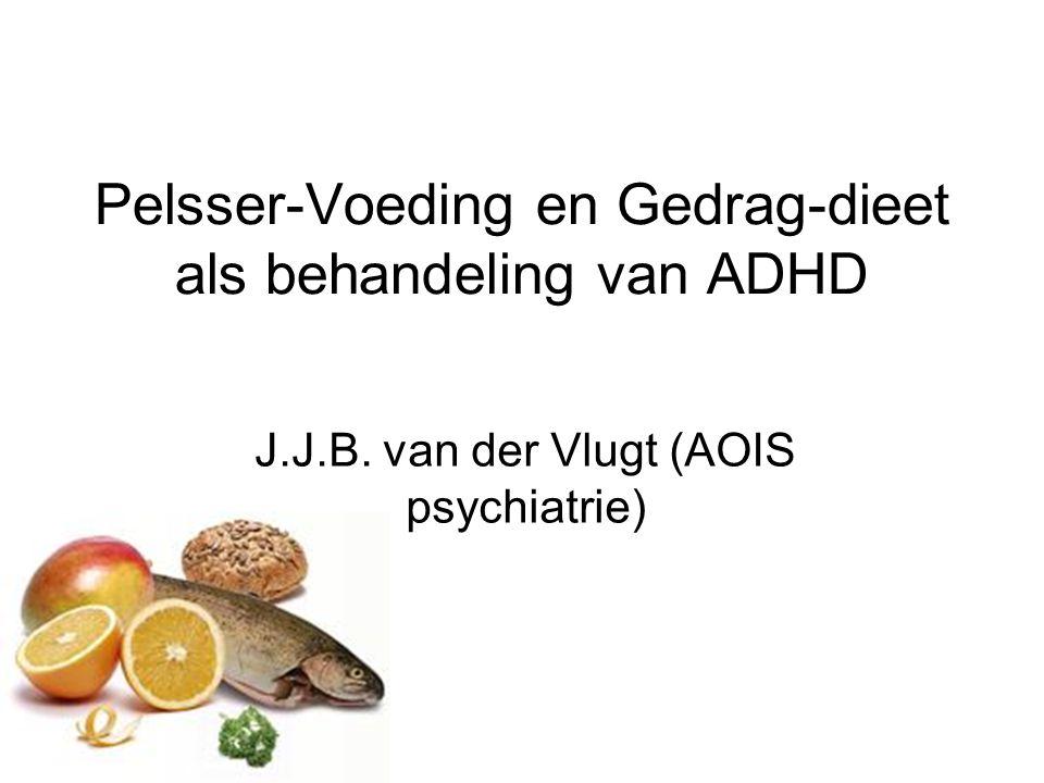 Pelsser-Voeding en Gedrag-dieet als behandeling van ADHD