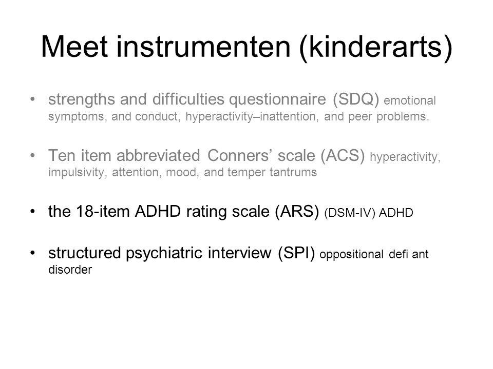 Meet instrumenten (kinderarts)