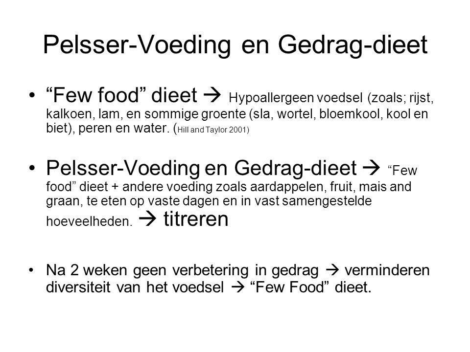 Pelsser-Voeding en Gedrag-dieet
