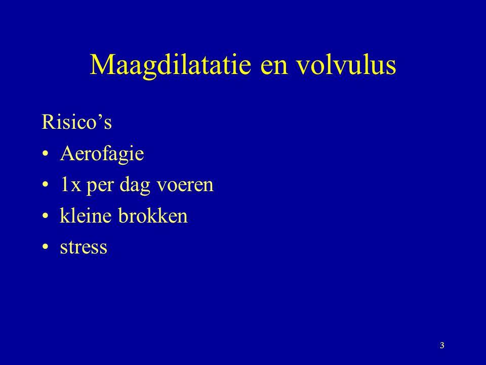 Maagdilatatie en volvulus