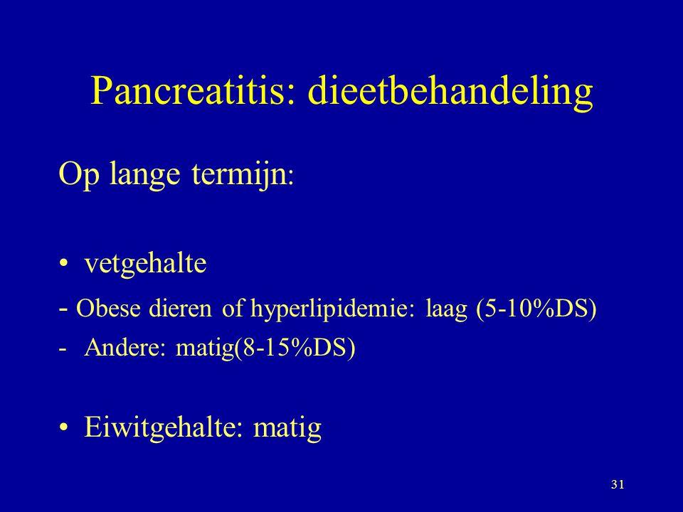 Pancreatitis: dieetbehandeling