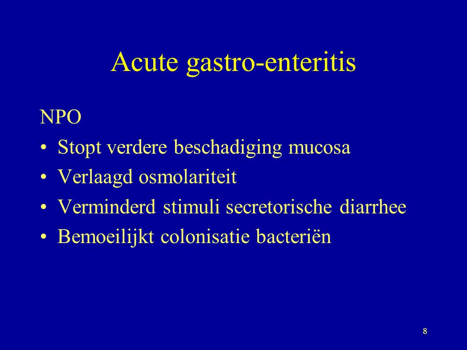 Acute gastro-enteritis