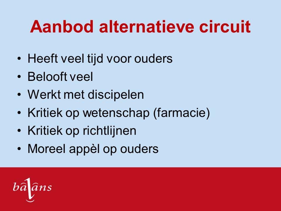 Aanbod alternatieve circuit