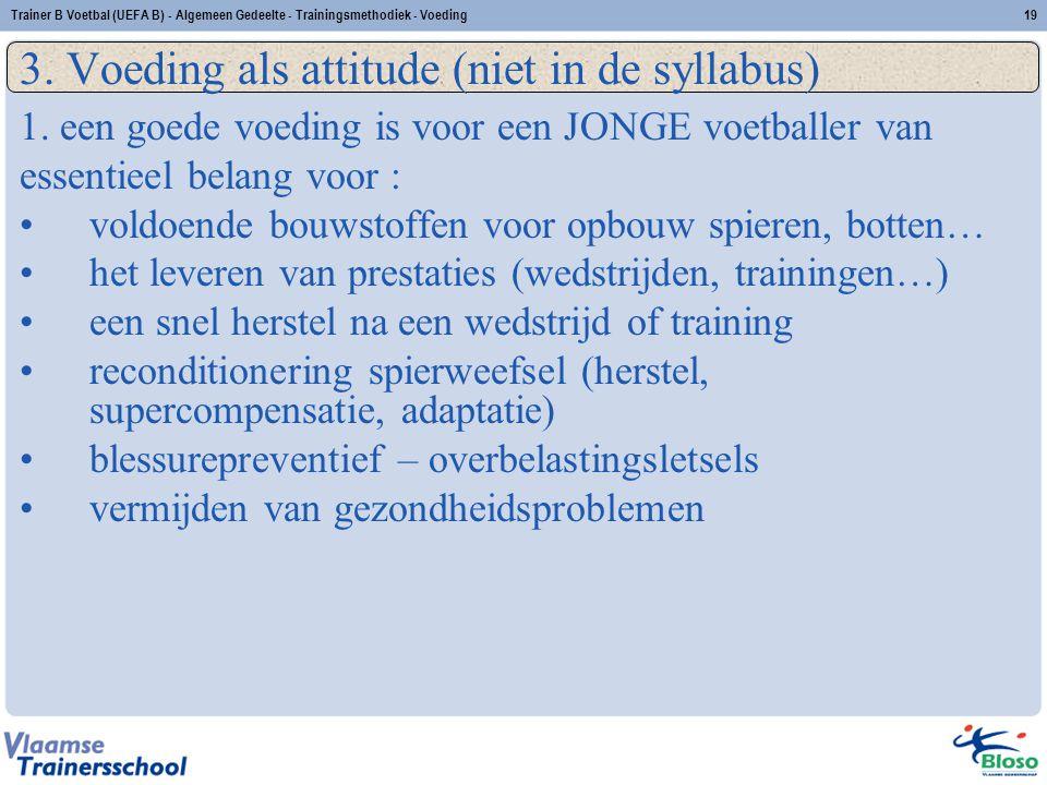 3. Voeding als attitude (niet in de syllabus)