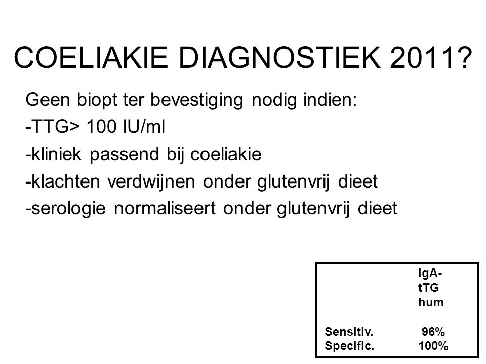 COELIAKIE DIAGNOSTIEK 2011